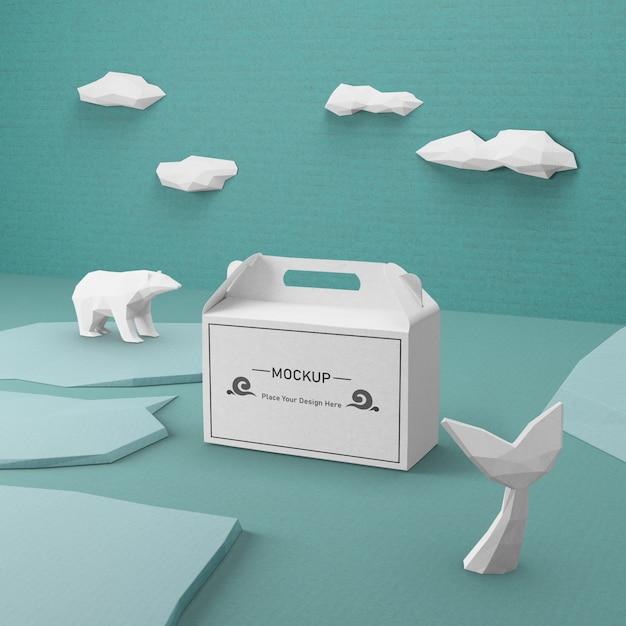 Concept De Journée De L'océan Durable Avec Maquette Psd gratuit