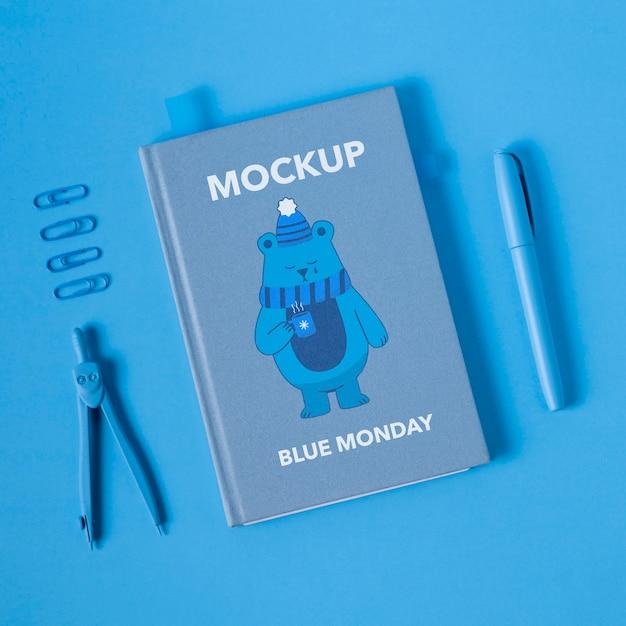 Concept De Lundi Bleu Avec Maquette PSD Premium