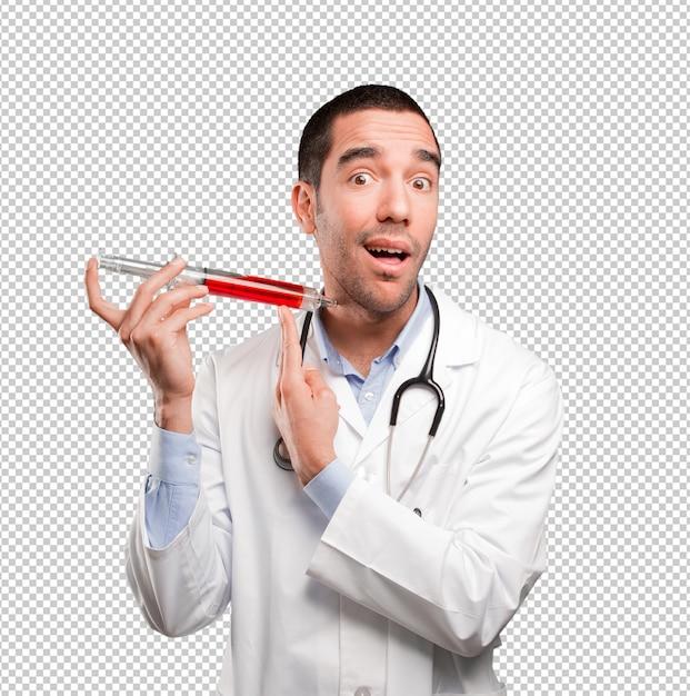 Concept D'un Médecin Donnant Du Sang PSD Premium
