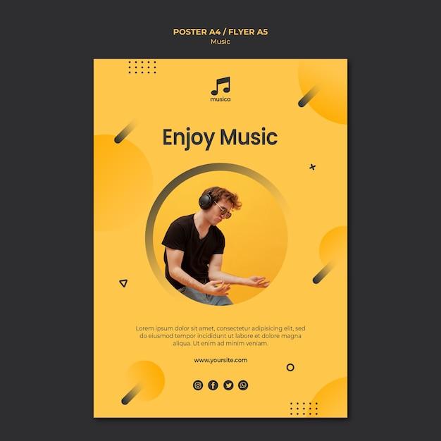 Concept De Modèle D'affiche De Musique Psd gratuit