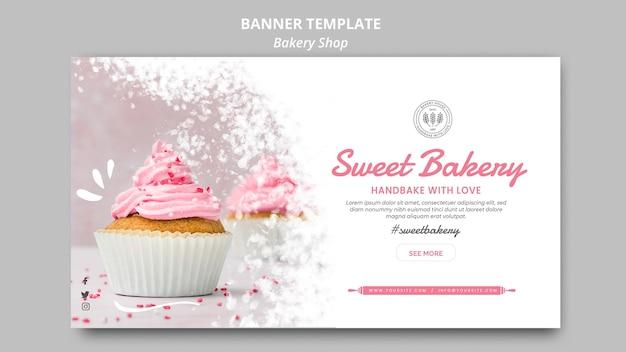 Concept De Modèle De Bannière De Boulangerie Psd gratuit