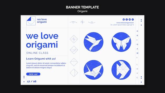 Concept De Modèle De Bannière Origami Psd gratuit