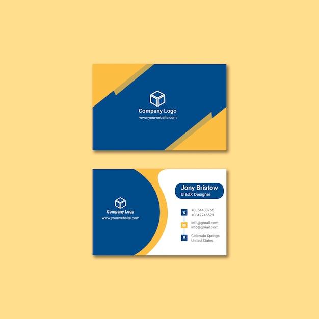 Concept de modèle de carte d'identité d'entreprise Psd gratuit