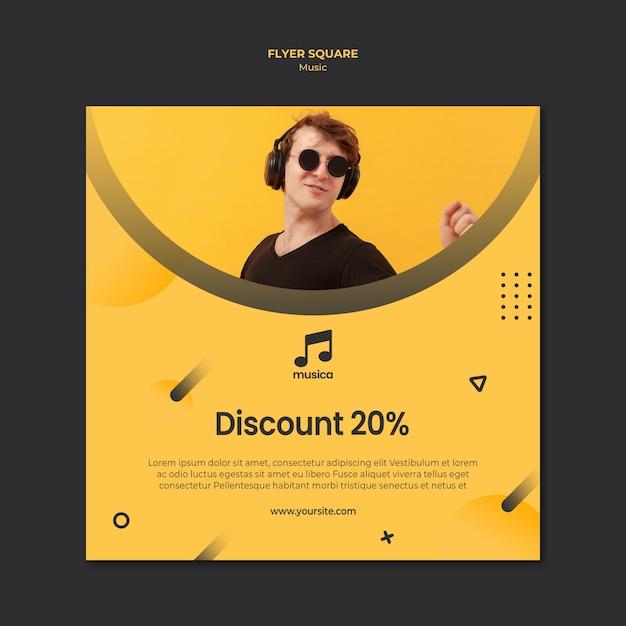 Concept De Modèle De Flyer De Musique Psd gratuit