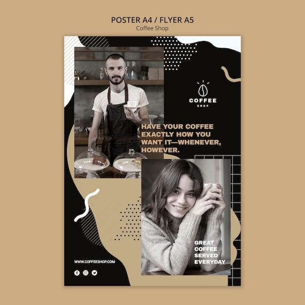 Concept De Modèle De Flyer Pour Café Psd gratuit