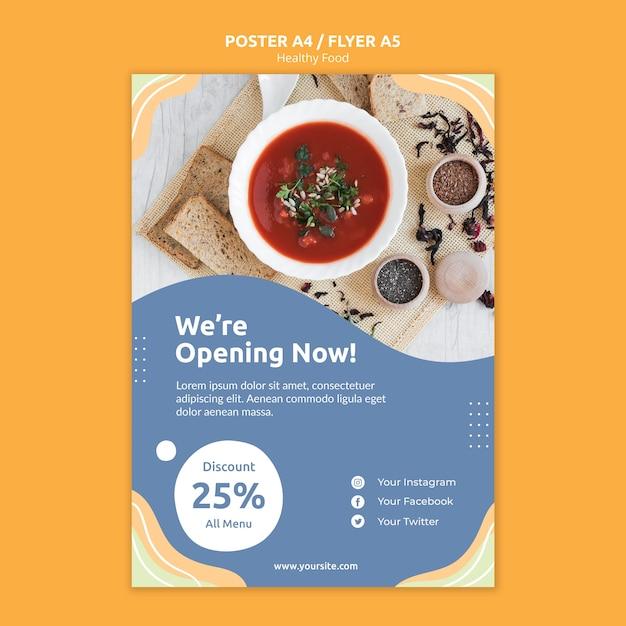 Concept De Modèle De Flyer De Restaurant Psd gratuit