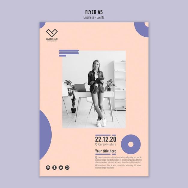 Concept De Modèle Pour Flyer Business Psd gratuit