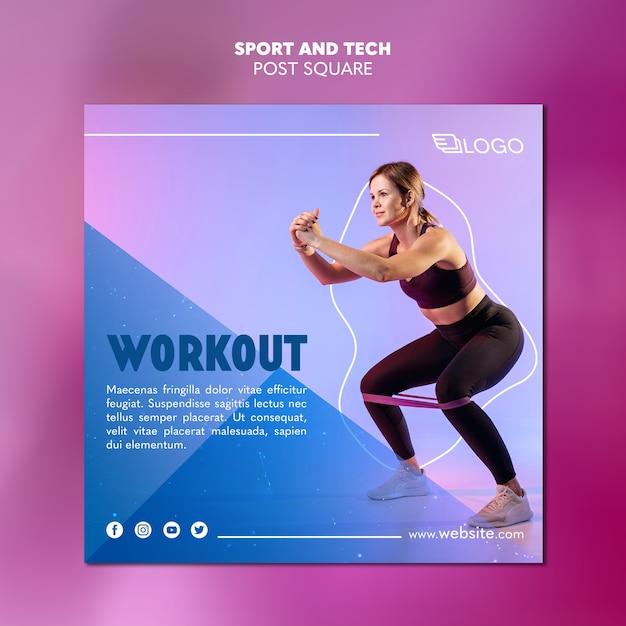Concept De Modèle De Publication Sport Et Technologie Psd gratuit