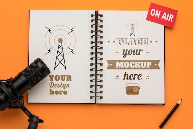 Concept Radio Avec Maquette Psd gratuit