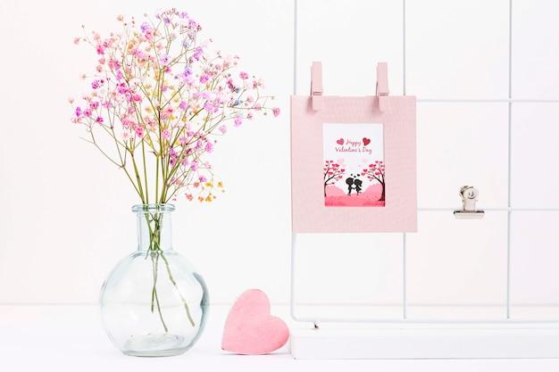 Concept De La Saint-valentin Avec De Belles Fleurs Psd gratuit