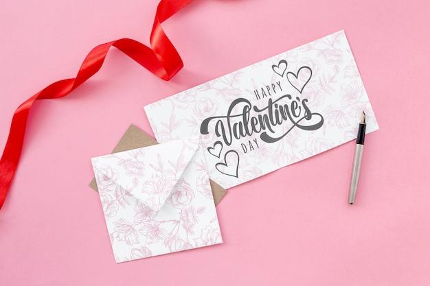 Concept De La Saint-valentin Avec Lettre Psd gratuit