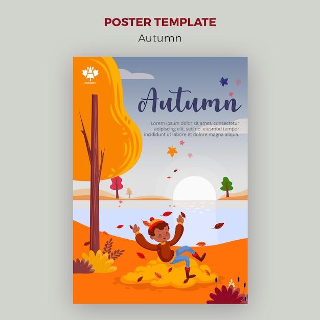 Conception D'affiche Concept Automne Psd gratuit