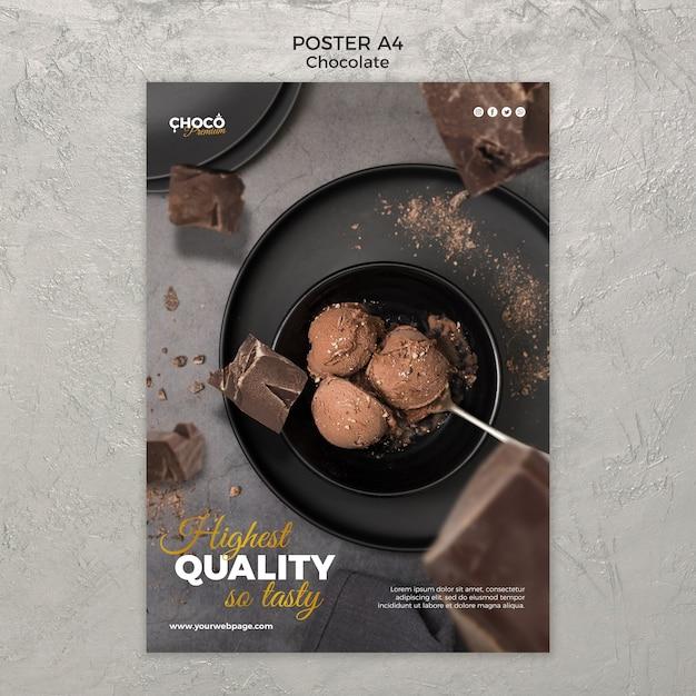 Conception D'affiche Concept Chocolat Psd gratuit