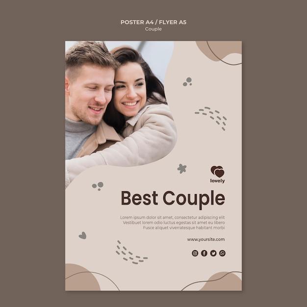 Conception D'affiche De Concept De Couple Psd gratuit