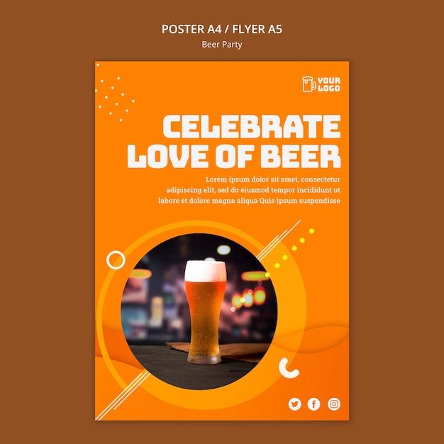Conception D'affiche De Fête De La Bière Psd gratuit