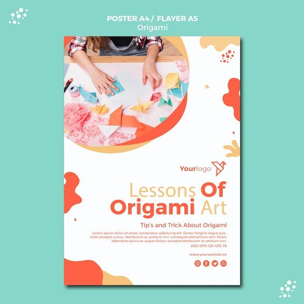 Conception D'affiche En Origami Psd gratuit