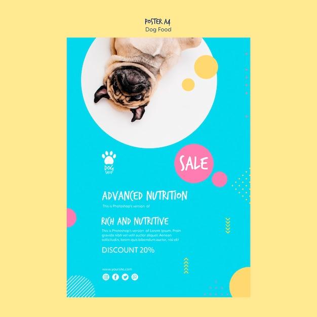 Conception D'affiche Pour La Vente D'aliments Pour Chiens Psd gratuit