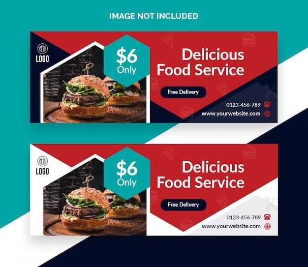 Conception De Bannière De Couverture Facebook De Restaurant Alimentaire PSD Premium