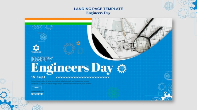 Conception De Bannière Pour La Journée Des Ingénieurs Psd gratuit