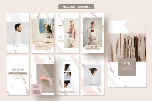 Conception De Bannière Promotionnelle De Médias Sociaux De Mode Minimaliste Histoire De Modèle De Publication Instagram PSD Premium