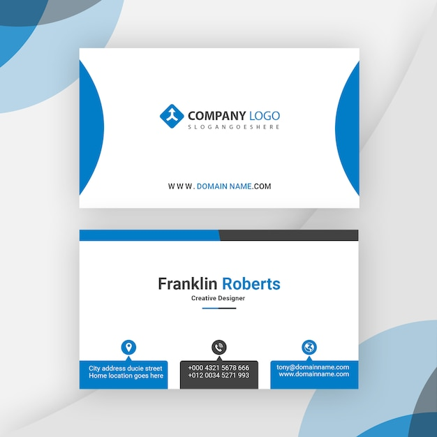 Conception de carte de visite prête à imprimer PSD Premium