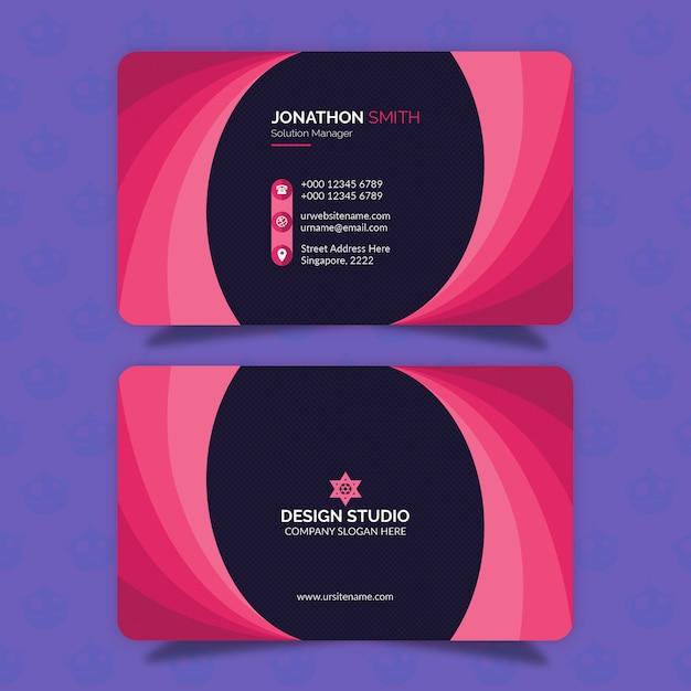 Conception de cartes de visite PSD Premium