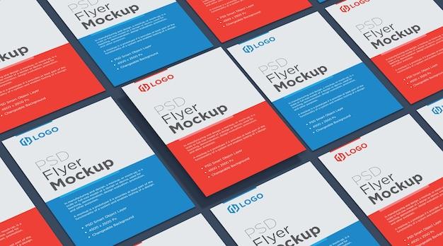 Conception De Collage De Maquette De Flyer Et D'affiche PSD Premium