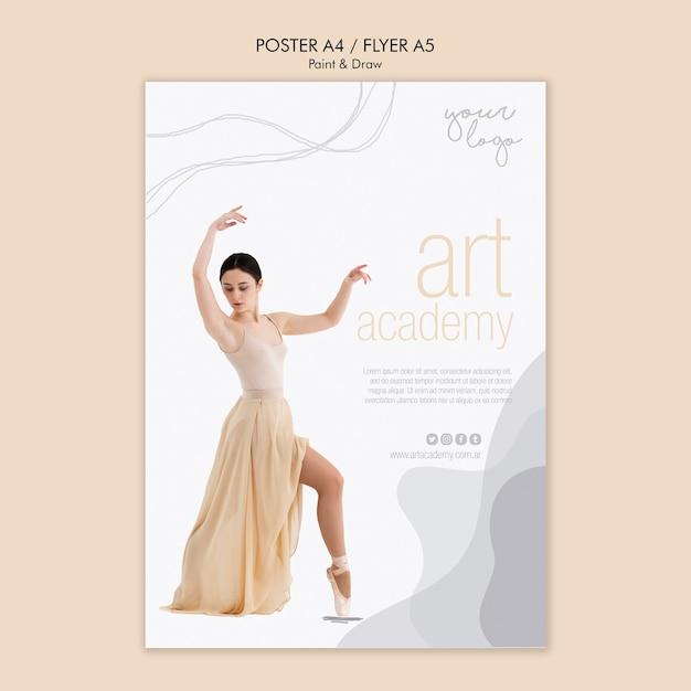 Conception De Flyer Académie D'art Psd gratuit