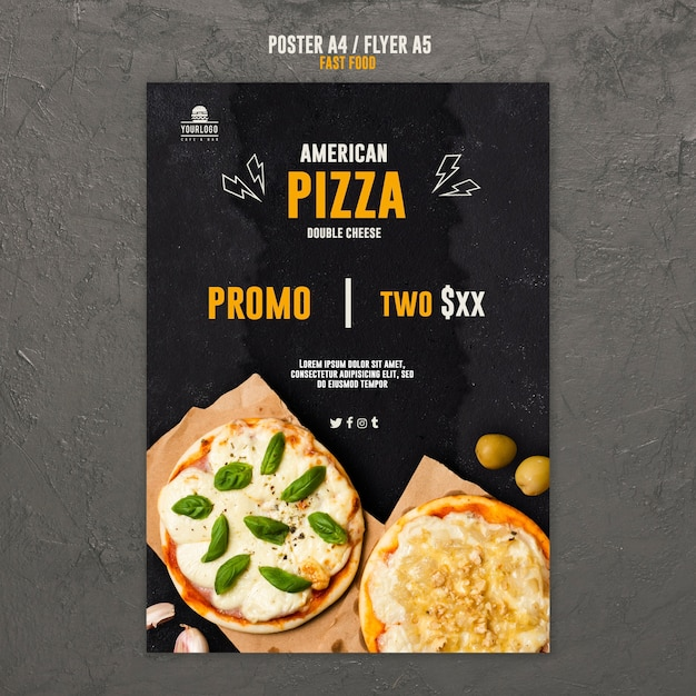 Conception De Flyer De Concept De Restauration Rapide Psd gratuit