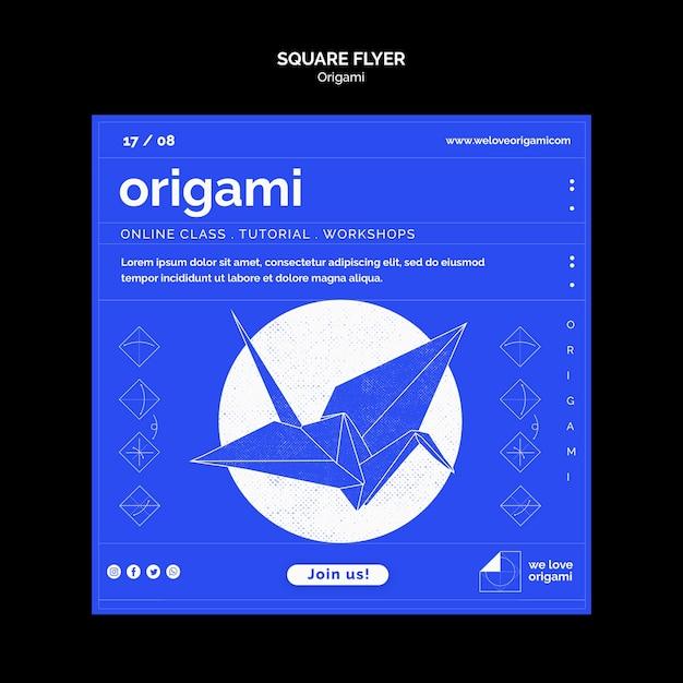 Conception De Flyer Origami Psd gratuit