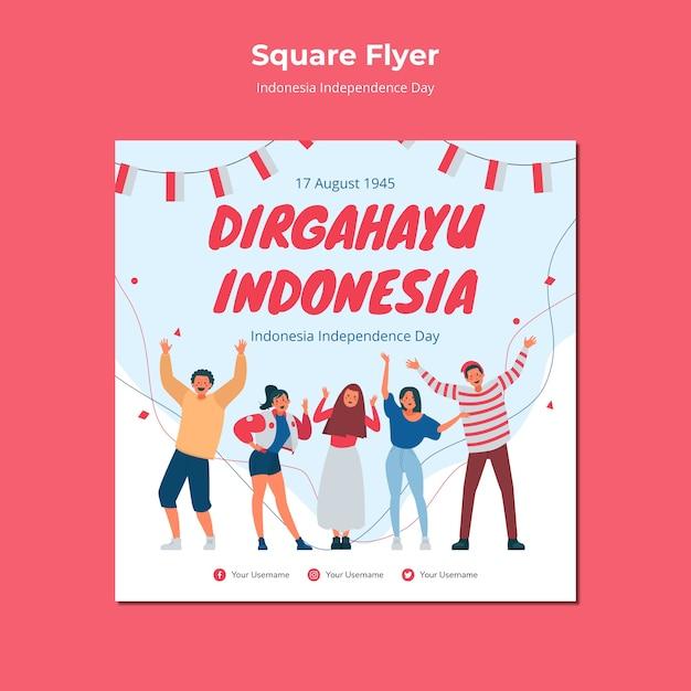 Conception De Flyer Pour Le Jour De L'indépendance De L'indonésie Psd gratuit