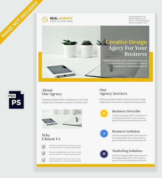 Conception de flyer PSD Premium