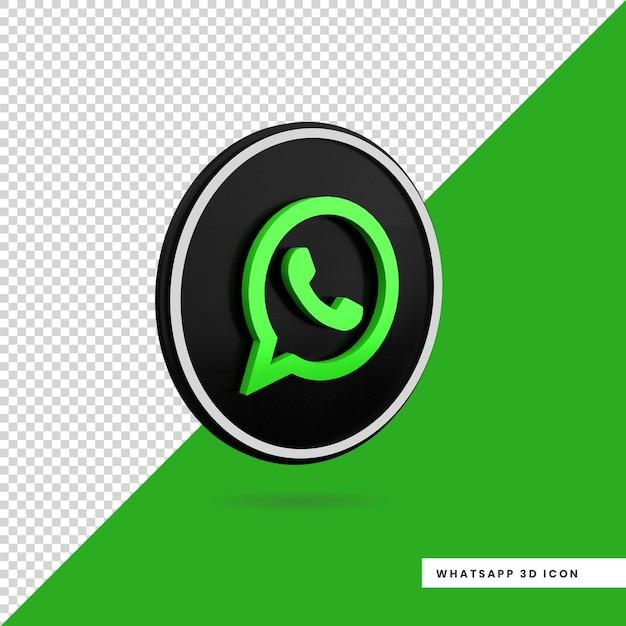 Conception D'icône 3d Whatsapp Isolé PSD Premium