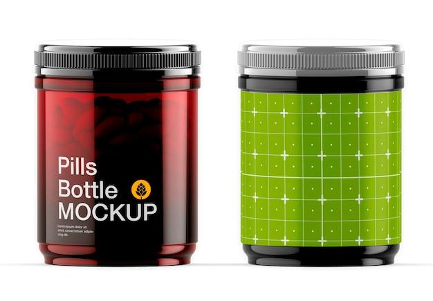 Conception De Maquette De Bouteille De Pilules Amberr Isolé PSD Premium