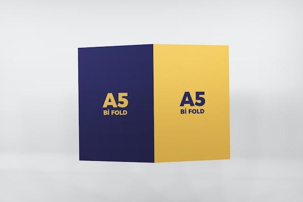 Conception De Maquette De Brochure A5 Pliable Isolée PSD Premium
