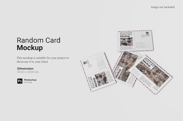 Conception De Maquette De Carte Aléatoire Isolée PSD Premium