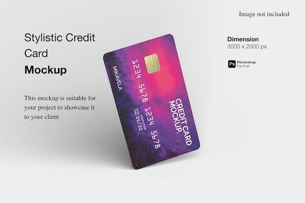 Conception De Maquette De Carte De Crédit Stylistique Isolée PSD Premium
