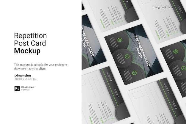 Conception De Maquette De Carte Postale Répétition Isolée PSD Premium