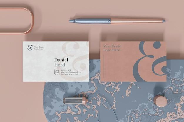 Conception De Maquette De Carte De Visite élégante Au Rendu 3d PSD Premium