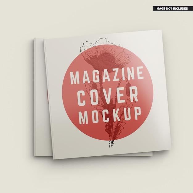 Conception De Maquette De Couverture De Magazine Carrée PSD Premium