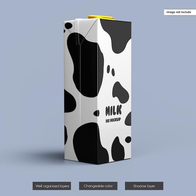 Conception De Maquette D'emballage De Boîte De Lait Isolée PSD Premium