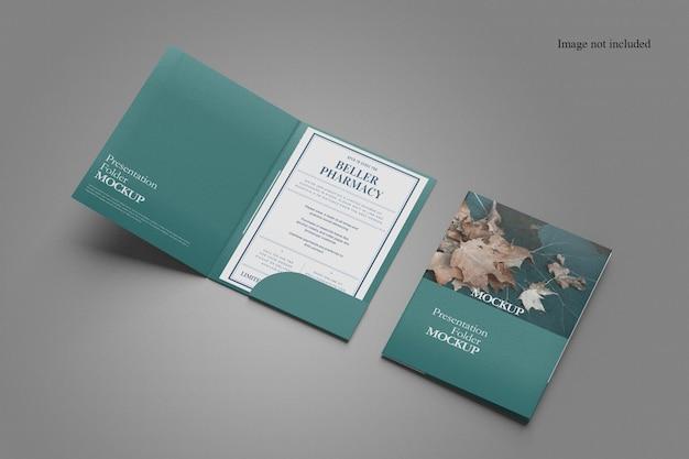 Conception De Maquette Minimaliste à Deux Dossiers PSD Premium