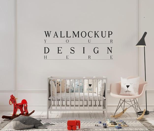 Conception De Maquette De Mur Dans Une Jolie Chambre D'enfant PSD Premium