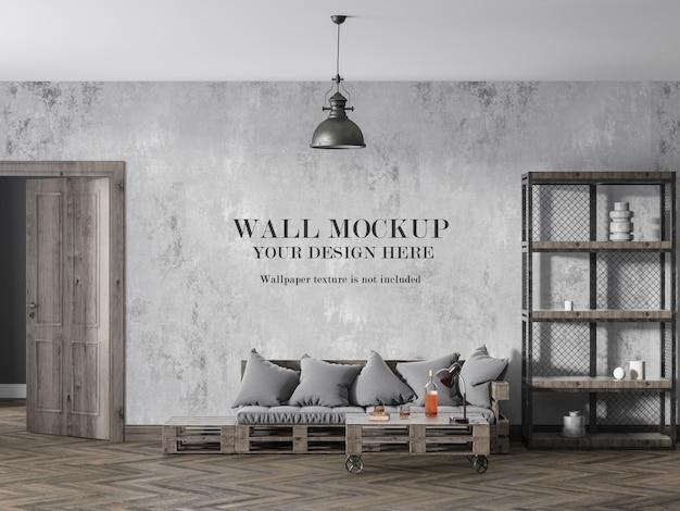 Conception De Maquette De Mur De Salle De Style Loft PSD Premium