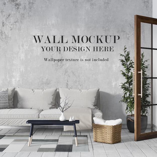 Conception De Maquette De Mur De Salon Confortable PSD Premium