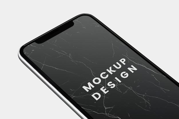 Conception De La Maquette D'un Smartphone à écran Noir Psd gratuit
