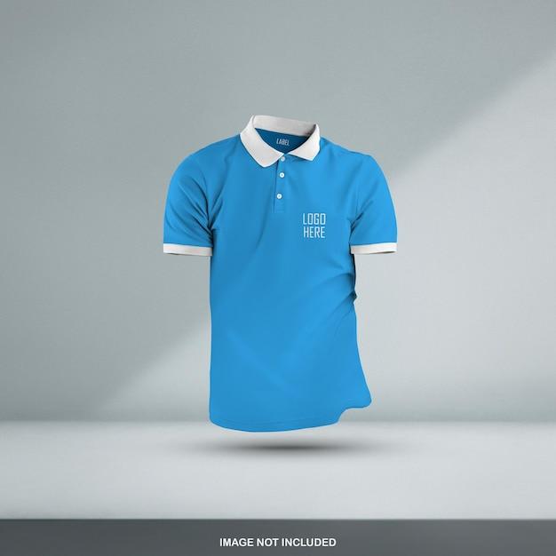 Conception De Maquette De T-shirt Polo 3d Isolé PSD Premium