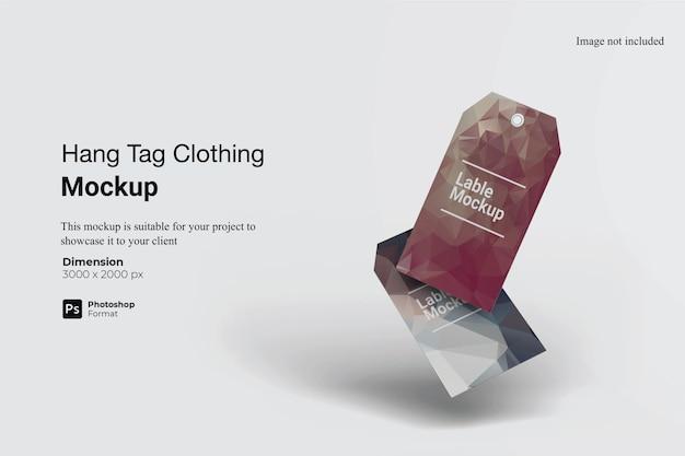 Conception De Maquette De Vêtements étiquette Volante Isolée PSD Premium