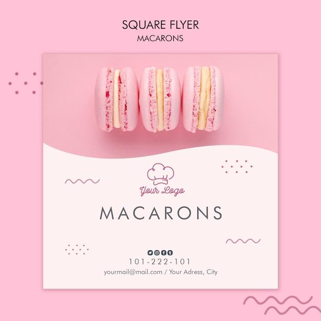 Conception De Modèle De Flyer De Macarons Psd gratuit