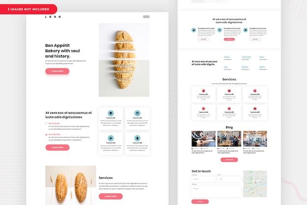 Conception De La Page De Destination De La Boulangerie PSD Premium